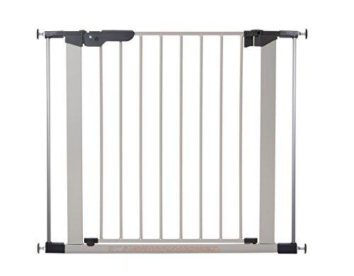 BabyDan Premier Barriere zu Befestigung durch Druck für Tür/Treppe Silber/Schwarz 73,5–93,3cm