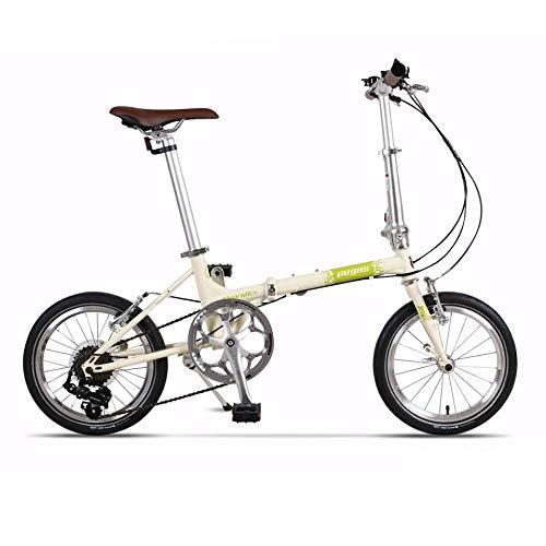 "Ape Rider Bicicleta Pegable Urbana Unisex Adulto - 7 Velocidades Shimano City Bike 16"" (nata)"