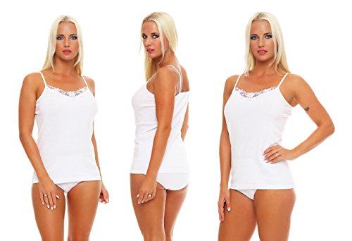 Good Deal Market - Canottiera -  donna 4 Damen Unterhemden 2x2 Pack