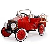 Baghera 1938FE - Tretauto Feuerwehr, aus Metall, 100 x 55 cm, 3-5 Jahre