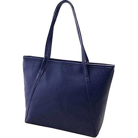 Cálido Chica Moda simple Vintage Mujer Grande Bolso de mano bolsa de la compra bolsa de hombro