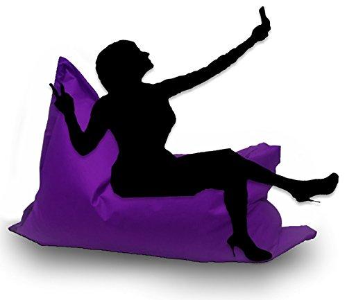 Sitzsack XL 145 x 100 cm mit Füllung - Farbe & Größe Wählbar- In & Outdoor Sitzsäcke Sessel Kissen Sofa Hocker Sitzkissen Bodenkissen (ca.145x100cm, Lila)