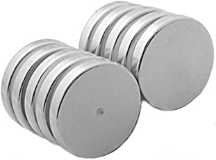 SSEA Nickel Coated Disc Magnet Dia. 12mm x 1.5mm Thk For student - 25 Pcs.