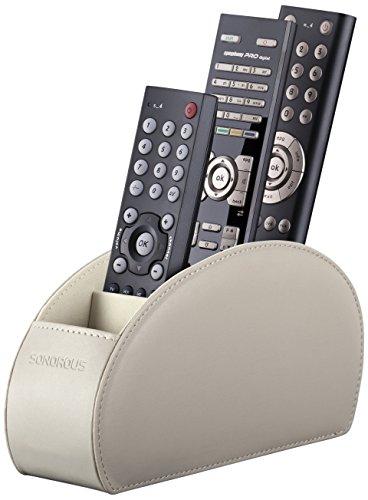 Sonorous Remote Holder Luxus Fernbedienung Halter, Holz, beige, 8 x 22 x 12,5 cm
