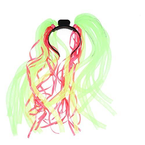 Mädchen Kostüm Clevere - FENICAL LED Stirnband leuchtende Röhre Kunststoff blinkende Perücke bunte Kopfbedeckung Party Night Out Haarschmuck