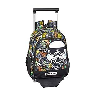 Star Wars Galaxy Oficial Mochila Infantil Con Carro Safta 705