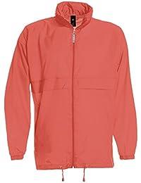 Chaqueta unisex con capucha para adultos, sin dibujos, impermeable, abrigo de lluvia sin forro