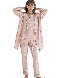 6fc2fa1e5 DAZISEN Conjunto de Pijama de Maternidad para Mujer - Pijamas de Maternidad  y Lactancia Ropa de