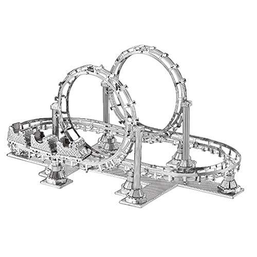 GODNECE 3D Puzzle Metall Bausatz Puzzle Modell Bausatz Metall Achterbahn Spielzeug