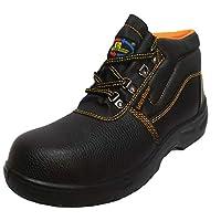 حذاء سيفتي طويل   أسود اللون مقاس 44