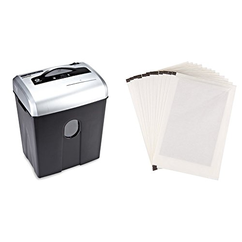 AmazonBasics Aktenvernichter, 10-12 Blatt, Kreuzschnitt, CD-Schredder und Schmiermittelblätter, 12 Stk. (Amazon Basic 12 Blatt Schredder)