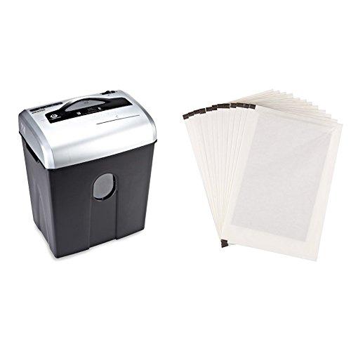 AmazonBasics Aktenvernichter, 10-12 Blatt, Kreuzschnitt, CD-Schredder und Schmiermittelblätter, 12 Stk.