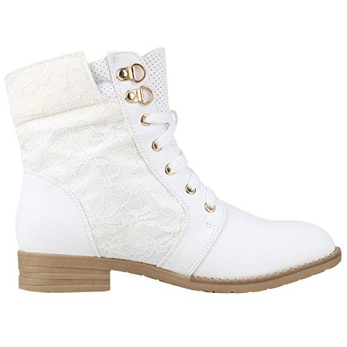 75cc3b355736 napoli-fashion Damen Schnürstiefeletten Spitze Stiefeletten Zipper Worker  Boot ...