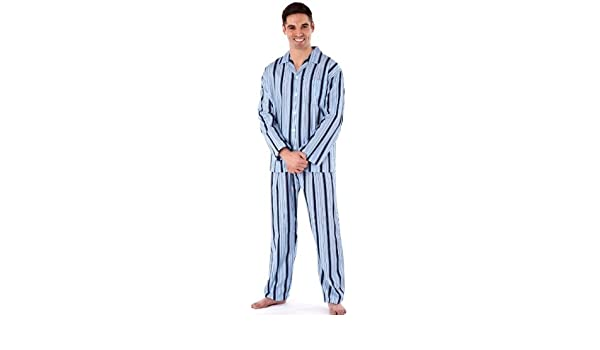 Tom franks homme à rayures en coton jersey long pyjamas