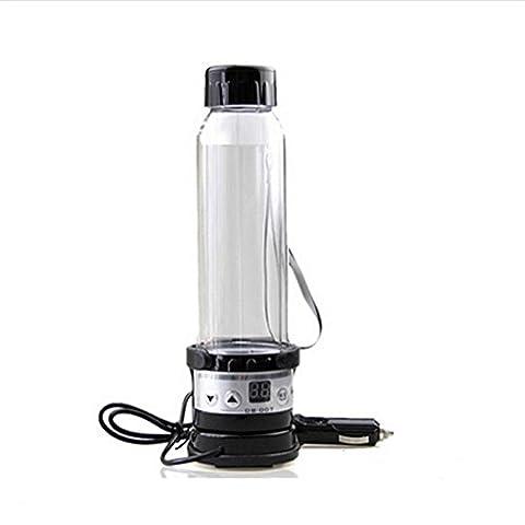 12V 75W Auto-elektrischer Wasserkocher 280ML Halter-Auto-Heizungs-Schalen-Spielraum beheizte Schalen-Heißwasser-Heizung für Kaffee-Tee-Becher Edelstahl-Thermoskanne
