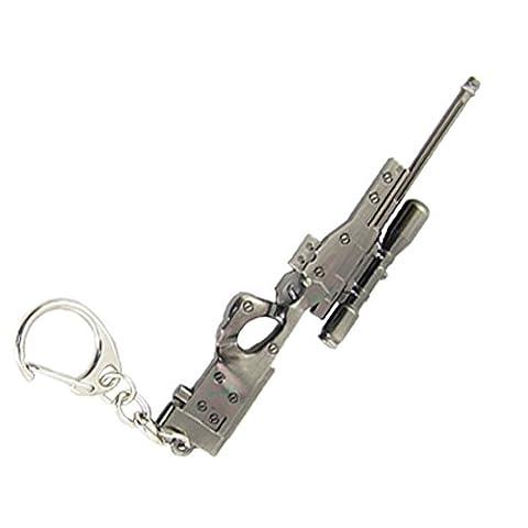 Flint Grau Metall Schlüsselanhänger Imitation Sniper Rifle-Anhänger