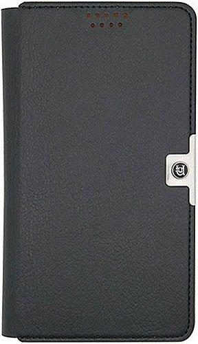 Aegis groß Uunique Universal selbstklebend Folio Wallet Case für Handy–Schwarz