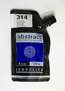Sennelier Abstract Innovative Acrylic Artist Paint Pouch 120ml (314 Ultramarine Blue)