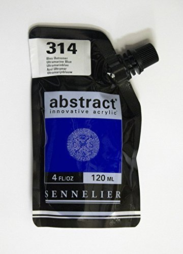 Sennelier Abstract Innovative Acrylfarbe Farbbeutel 120ml - 314 Ultramarine Blau