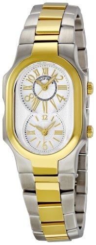 Philip Stein - 1TG-MWG-SSTG - Montre Femme - Quartz Analogique - Cadran Blanc - Bracelet Acier