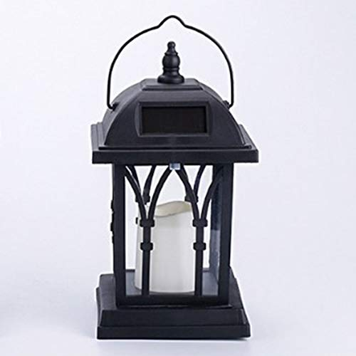 [ICOCO] Outdoor Table Lamp LED Light Solar Candle Lantern Lamp Garden Hanging Decor -