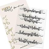 Clear Stamp-Set Stempel-Gummi Karten-Kunst - Kalligraphie im Dezember