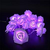 Luce della stringa di 2M 20 Fiore della Rosa LED,lampada ANGTUO Fata per il Giardino matrimoni Festival Hotel di Natale