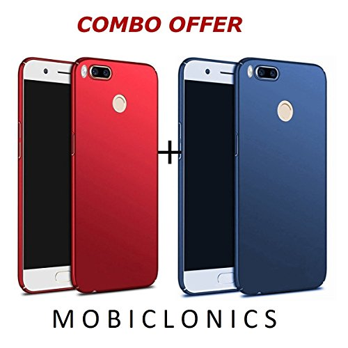 Mobiclonics{COMBO OFFERS}[TWO PRODUCT AT THE PRICE OF ONE] 4 cut Anti Shock Ipaky Cover for One Plus 5T[Launched In November 2017]-[Blue+Red]