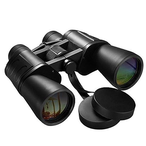 Ferngläser, HoLife Fernglas 10X50 Super Klar Weitwinkel Wasserdichtes Fernglas Hochauflösend FMC Optisches Teleskop mit Nackenbügel, Schutztasche für die Jagd, Wandern, Vogelbeobachtung,