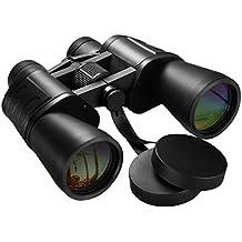 Ferngläser, HoLife Fernglas 10X50 Super Klar Weitwinkel Wasserdichtes Fernglas Hochauflösend FMC Optisches Teleskop mit Nackenbügel, Schutztasche für die Jagd, Wandern, Vogelbeobachtung, Besichtigung