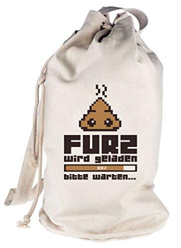 Furz wird geladen..., bedruckter Seesack Umhängetasche Schultertasche Beutel Bag Natur