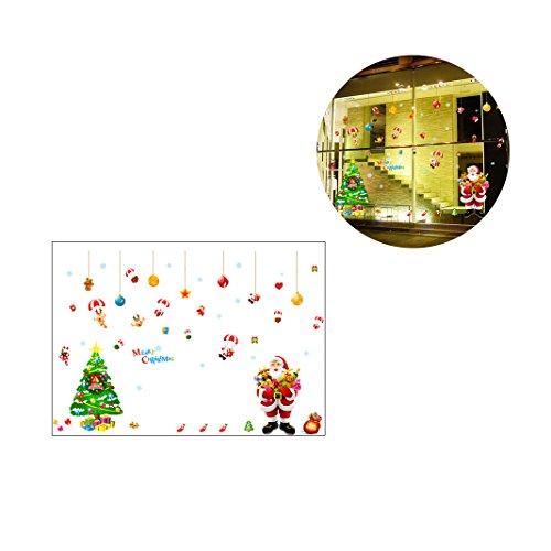 Weihnachtsaufkleber Christmas Stickers,Moon mood® Christmas Window Stickers Living Room Kindergarten Stickers Weihnachten Glasaufkleber Schlafzimmer Aufkleber Weihnachtsaufkleber Christmas Decoration für Familie Versammlungen Abendessen Dekoration Windows-buchstaben-aufkleber
