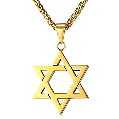 MESE London Magen Star Of David Necklace 18K Gold Plated