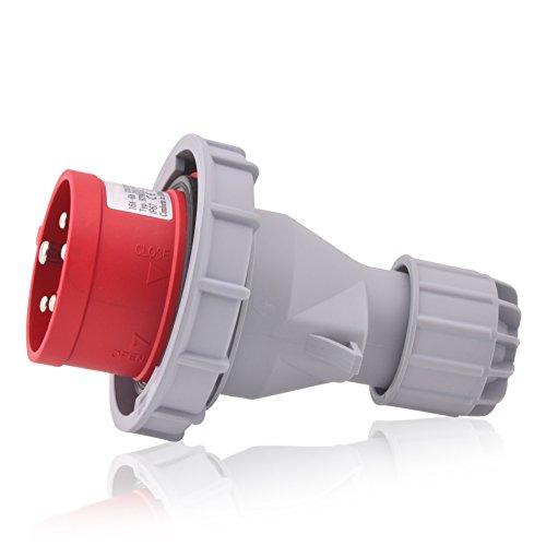 CEE-Starkstrom-Stecker Intratec 32A 400V 6h IP67 (spritzwassergeschützt) 5-polig (3P+N+E): IEC-60309 Industrie- und Mehrphasenstecker
