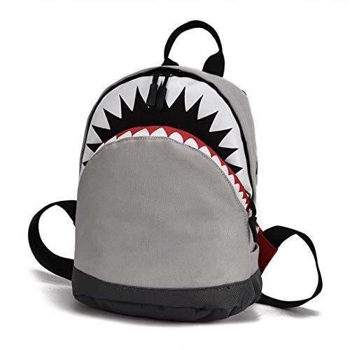 Kids 3D Model Shark School Bags Baby S Child\'s School Bag for Kindergarten Boys and Girls Bagpack Child Canvas Backpack Small-Gray