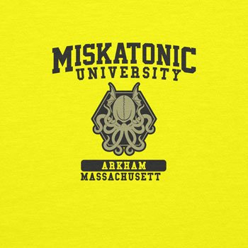 Planet Nerd Miskatonic University - Herren T-Shirt Gelb