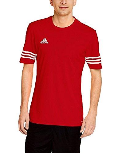 Adidas entrada 14 jsy, maglietta uomo, rosso/bianco, xl