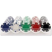 Estuche de 100 fichas de poker de 11.5 gr + REGALO TAPETE 120 x 80 cm. Dakota. 1 unidad