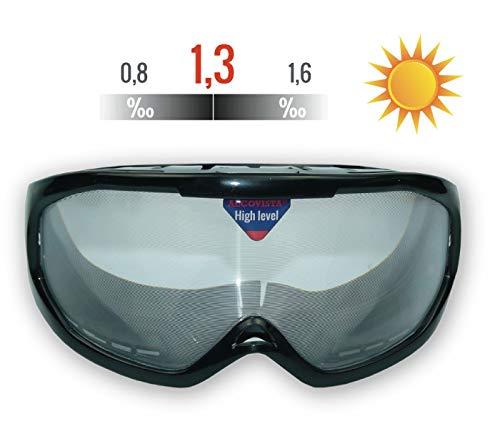 Rauschbrillen - Alkoholbrillen. promille 0,8 ‰ bis 1,6 ‰ , Tagsicht
