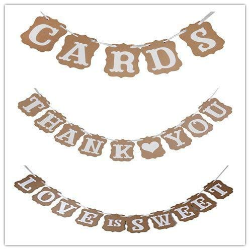 CTY Wedding Love is Sweet, Thank You, Karten Papier Girlande Banner Hochzeit Banner Party Dekorationen (15 Ringe 10 Größe Sweet)