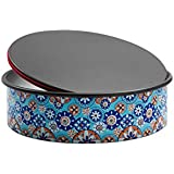 Domo Push Pan molde base extraíble, diámetro 23cm, aluminio, Azul Multicolor, 24.5x 24.5x 7.6cm