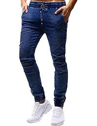 9e79faf247ce TIFIY Herren Jogg Hose Freizeithose Jogginghose Trainingshose Fitness Jeans  Chino Arbeitshose Kordelzughose Slim Fit Hose