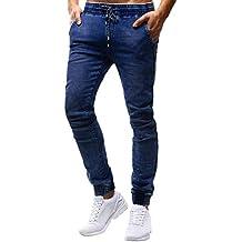 52d4ea1b4cc STRIR Pantalones de Hombre Casuales Chino Deporte Joggers Pants Algodón  Slim Fit Jeans Cargo Trouser