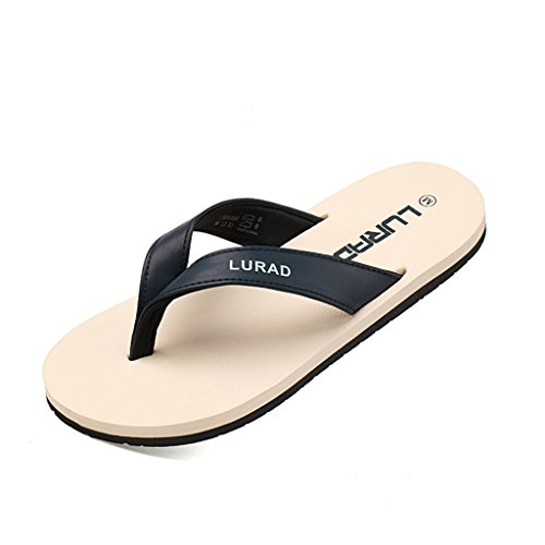 ALUK- Sandales d'été - chaussures de plage confortables et confortables pour hommes antidérapantes ( Couleur : Beige , taille : 40 ) Beige