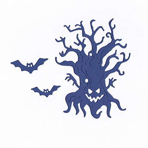 WOZOW Stanzmaschine Stanzschablone Scrapbooking Prägeschablonen Stanzformen Schablonen Schneiden Karneval Dekoration Halloween schrecklich KarteUnfug