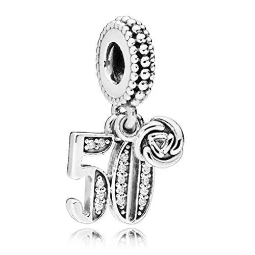 FeatherWish Ciondolo argento Sterling 925 con zirconia cubica adatto per braccialetti Pandora