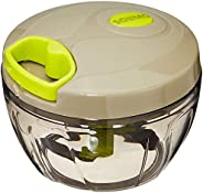Amazon Brand - Solimo Compact Vegetable Chopper (350 ml, Grey/Lime)
