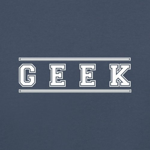 Geek (College Style Font) - Herren T-Shirt - 13 Farben Navy