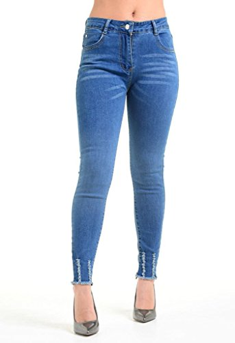 Momo&Ayat Fashions -  Jeans  - Jeans - Donna Blue Denim