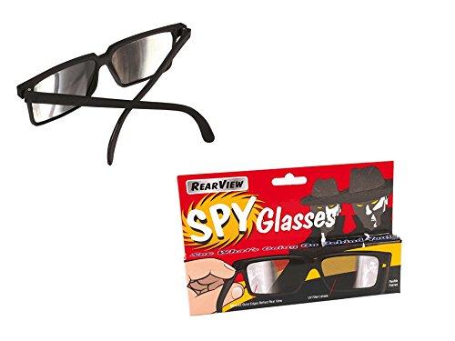 Preis am Stiel 1 x Spionagebrille mit Seitenspiegel im Bügel | Spionagebrille für Kinder | Agenten Brille | Detektiv Brille | Fasching Brille | Karneval Accessoire | Geschenkidee für ()